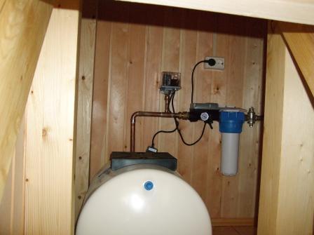 Подводка воды из колодца в дом.